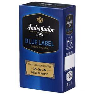 Кофе молотый фасованный Ambassador Blue Label 250 г