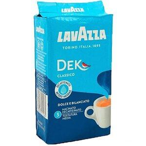 Кофе молотый фасованный Lavazza Dek 250 гр (без кофеина)