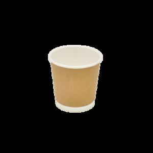 Стакан двошаровий білий +крафт 110 мл 50 шт
