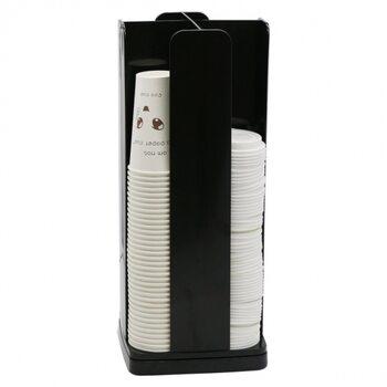 Вращающийся диспенсер для бумажных стаканов и крышек на 4 ячейки