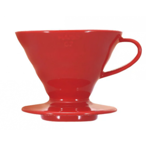 Пуровер HARIO V60 01 красный керамический