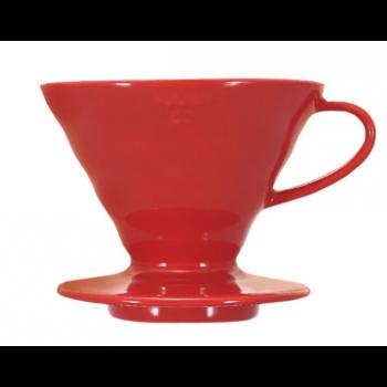 Пуровер Hario V60 01  червоний керамічний