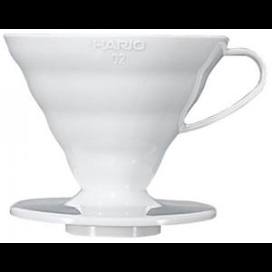 Пуровер Hario V60 02  білий пластиковий
