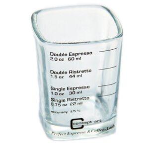 Прямоугольный мерный стаканчик Joe Frex из стекла для кофе