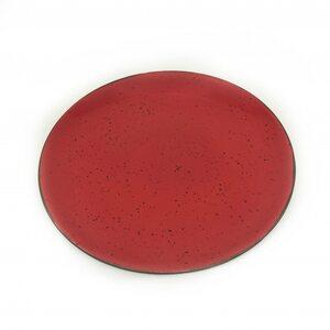 Тарелка плоская 26 CM, iris red 2-1208 INKER