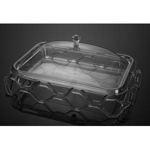 Подставка для торта с крышкой акрил 36.5*28.5*17.5 см
