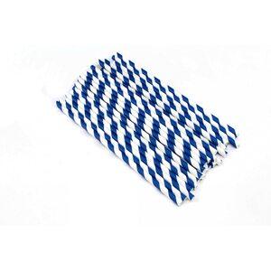 Трубочка для коктейля бумажная, диагональ 2 цвета 6 × 200 мм