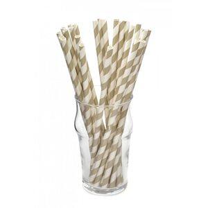 Трубочка для коктейля бумажная, диагональ 8 цветов 6 × 200 мм
