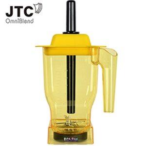 Чаша для блендера JTC, 1.5 литра с ножами, желтая (Бисфенол отсутствует)