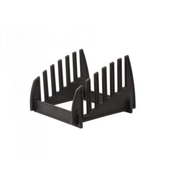 Подставка под 6 разделочных досок толщиной до 12 мм, 230 × 230 × 160 мм, полипропилен, черная