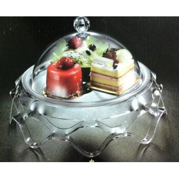Подставка для торта с крышкой акрил 34*34*22 см