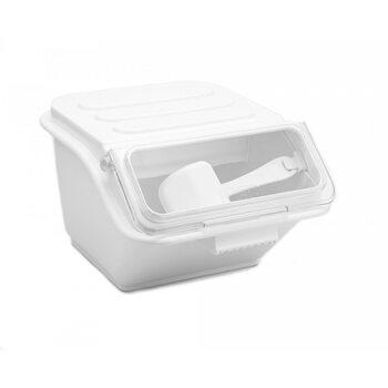 Контейнер для сыпучих ингридиентов штабелируемый, белый 8 л.