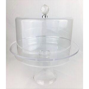 Подставка для торта с крышкой акрил 30*30*33 см