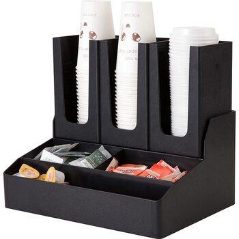 Диспенсер для бумажных стаканов и ингредиентов на 6 ячеек пластик