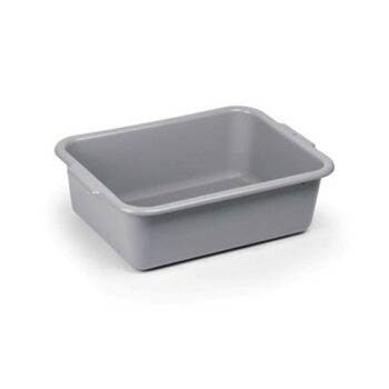 Лоток для сервисной тележки (серый пластик) (540 × 385 × 135 мм)