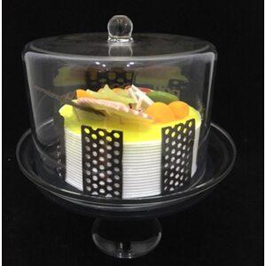 Подставка для торта с крышкой акрил 19*19*25 см