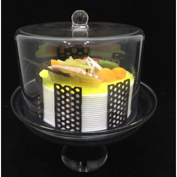 Подставка для торта с крышкой акрил 24*24*28 см