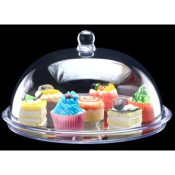 Подставка для торта с крышкой акрил 34.5*34.5*17 см