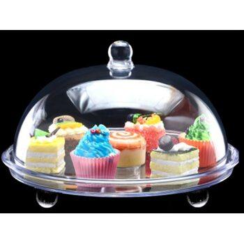 Подставка для торта с крышкой акрил 34.5*34.5*21 см