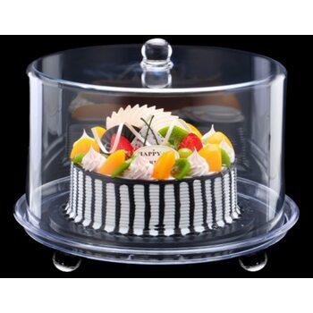 Подставка для торта с крышкой акрил 34.5*34.5*28 см