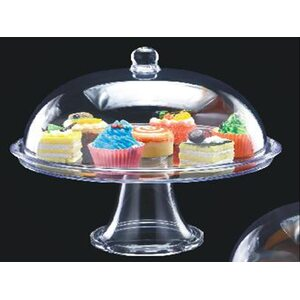Подставка для торта с крышкой акрил 34.5*34.5*30 см