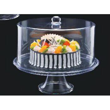 Подставка для торта с крышкой акрил 34.5*34.5*37 см - 2