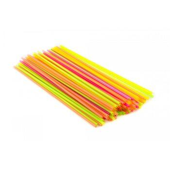 Трубочка для коктейля, ассорти 4 цвета неон 3 × 265 мм
