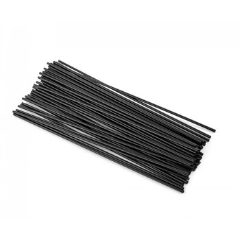 Трубочка для коктейля круглая, черная 3 × 265 мм