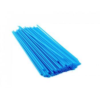 Трубочка для коктейля круглая, голубая 3 × 265 мм