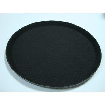 Поднос круглый антислип черный 355 мм