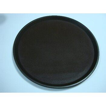 Поднос антислип круглый коричневый 280 мм