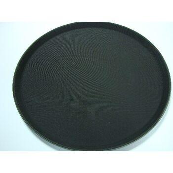 Поднос круглый антислип черный 405 мм